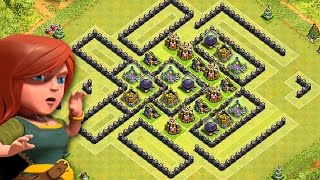 Clash of Clans | PROTECT YOUR LOOT | AWESOME FARMING BASE | Townhall 9 SPEED BUILD