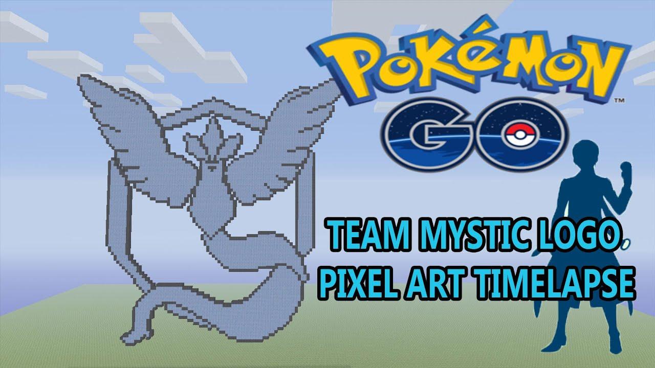 Minecraft pokemon go team mystic logo pixel art - Pokemon logo minecraft ...