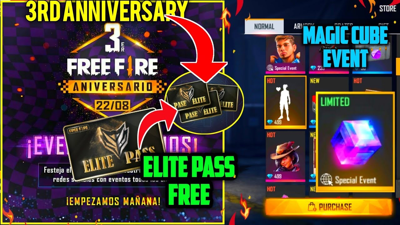 3rd Anniversary: Elite Pass Free?I heart you Emote in store🙈Magic Cube In Event - UNIQUE GAMEPLAY