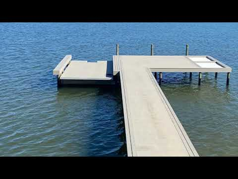 MARINE CONTRACTOR VLOG/ Trex decked platform 14,000 lbs. submersible boat lift