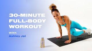 Entraînement complet du corps de 30 minutes sans équipement avec Ashley Joi