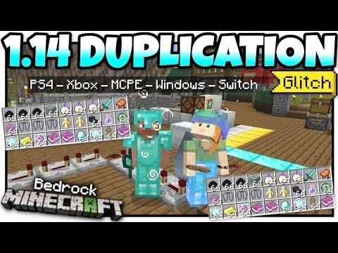Minecraft Bedrock - 1.14 DUPLICATION GLITCH 💎 [ Tutorial ]💎 PS4 / MCPE / Xbox / Windows / Switch