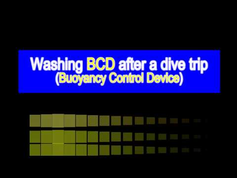 How to wash the BCD (Buoyancy Control Device) after a dive trip