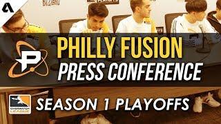 Philadelphia Fusion Overwatch League Quarterfinals Playoffs Press Conference