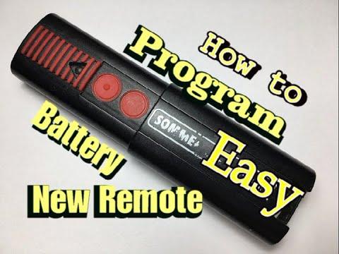 Sommer Garage Door Opener Remote Replacement Programming Battery Replacement Youtube