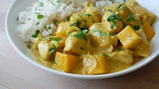 Schnelles Hähnchen Curry mit Mango || Simple Mango Chicken Curry || [ENG SUBS]