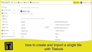 How to create and import a single tile with Tilelook