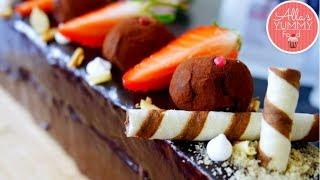 Chocolate & Coffee Mousse Cake Recipe