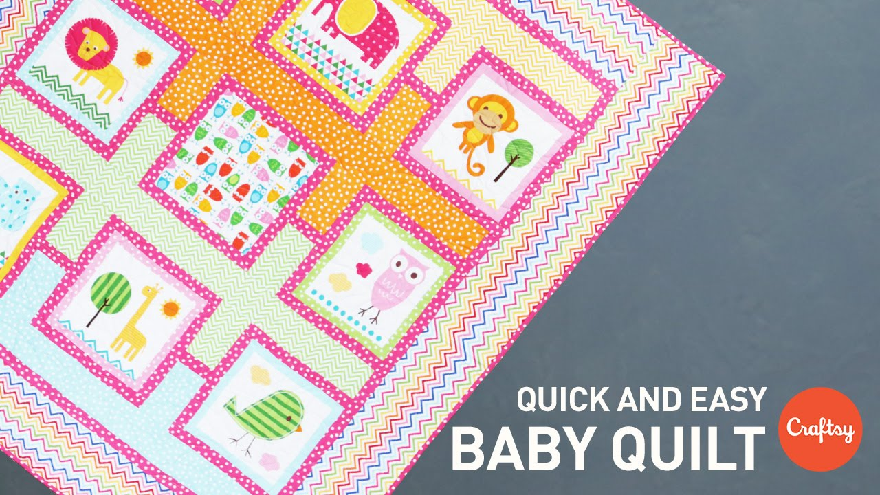 Baby Quilt Project Quick Amp Easy Quilting Tutorial