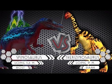 Spinosaurus VS Therizinosaurus Dinosaurs Colosseum Battle