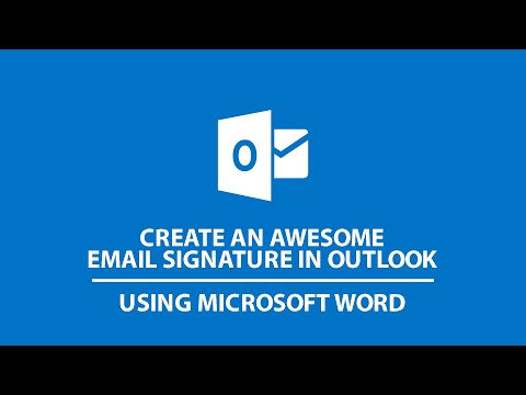 Create an Awesome Email Signature in Outlook Using Microsoft Word