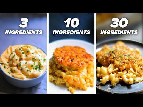 "3-Ingredient vs. 10-Ingredient vs. 30-Ingredient Mac 'N"" Cheese"