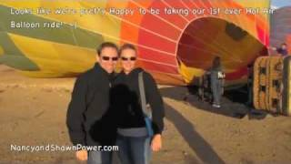Video of our Hot Air Balloon ride in Phoenix, Arizona... awesome!