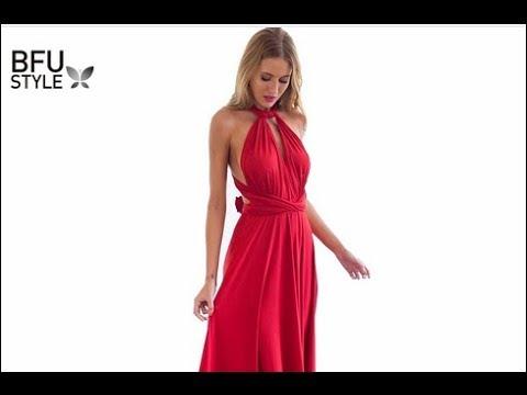 Vestido boho largo rojo