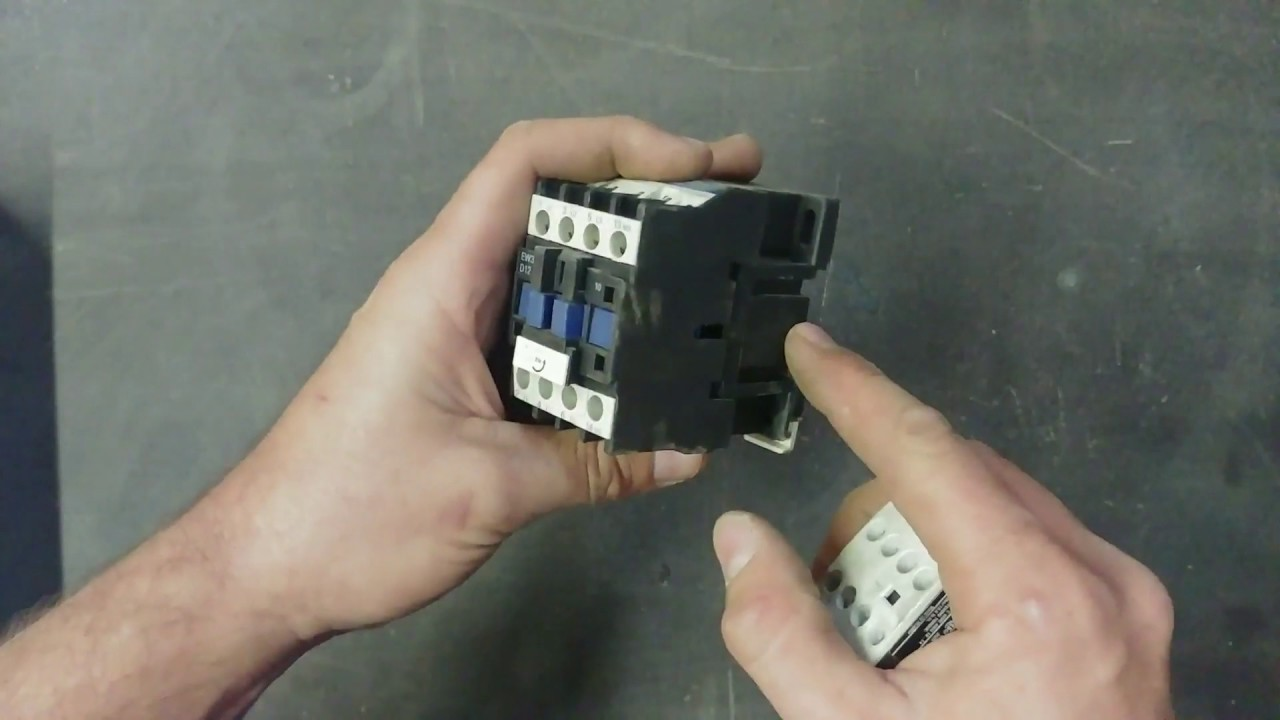 how to connect a contactor [ 1280 x 720 Pixel ]