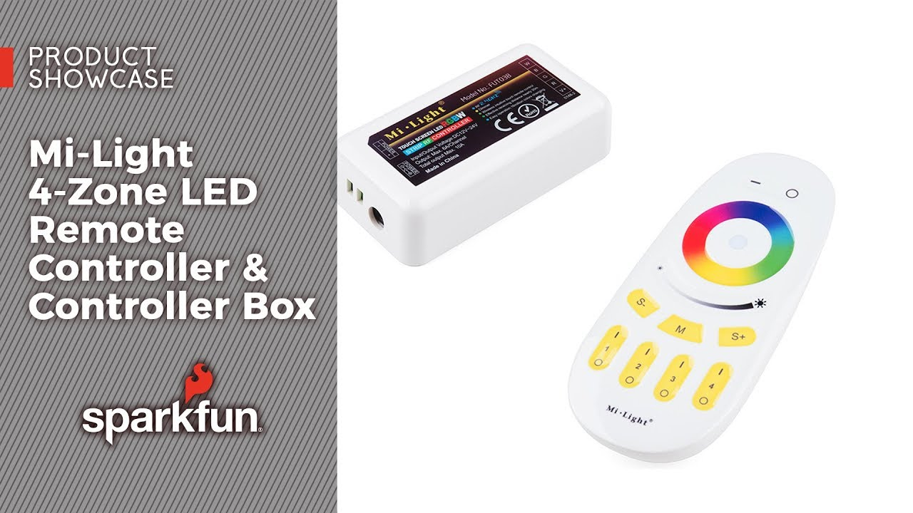 Product Showcase Mi Light 4 Zone Led Remote Controller Box