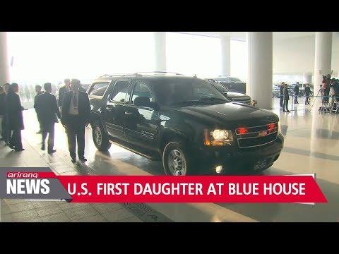 South Korean President hosts U.S. delegation led by Ivanka Trump at the Blue House