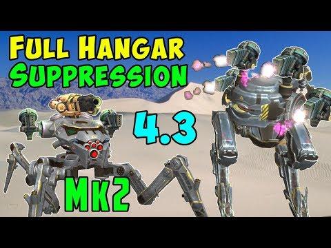 Full Mk2 Suppression Hangar: Blitz, Rayker & Invader War Robots WR
