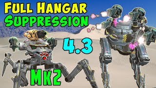 Full Mk2 Suppression Hangar: Blitz, Rayker & Invader War Robots WR