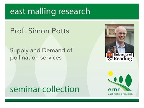 Prof Simon Potts  Supply and demand of pollination services