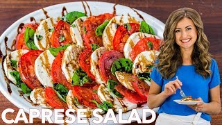 Easy Caprese Salad Recipe with Balsamic Glaze