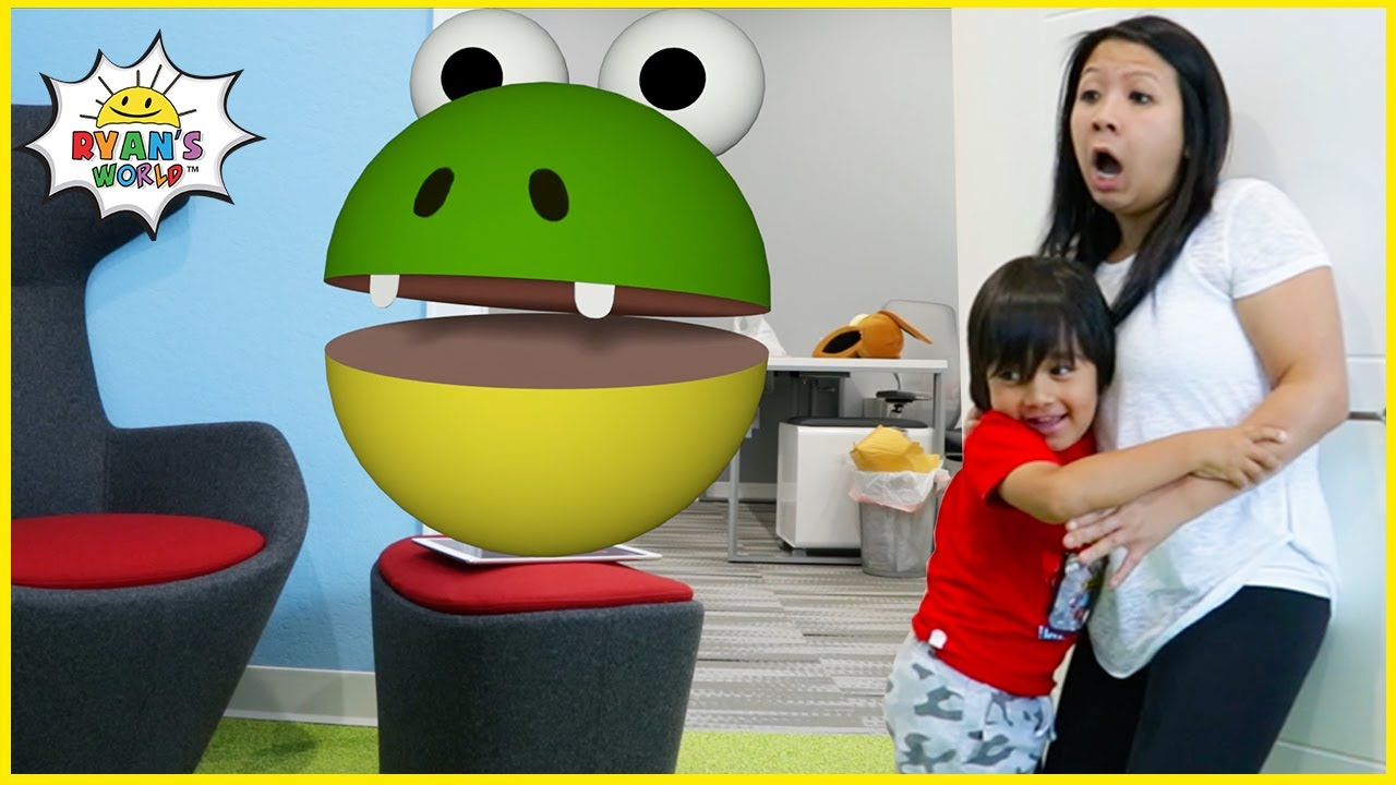 Download Ryan vs. Pac-Man In Real Life and more 1hr kids Video!
