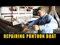HOW TO REPAIR A PONTOON BOAT | 1975 WEERES | #WPM BOATS