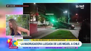 Emoción total para sus fanáticos: así fue la llegada de Luis Miguel en plena madrugada a Santiago
