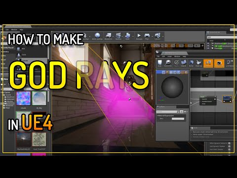 Unreal 4 Creating simple God Rays (light shafts)