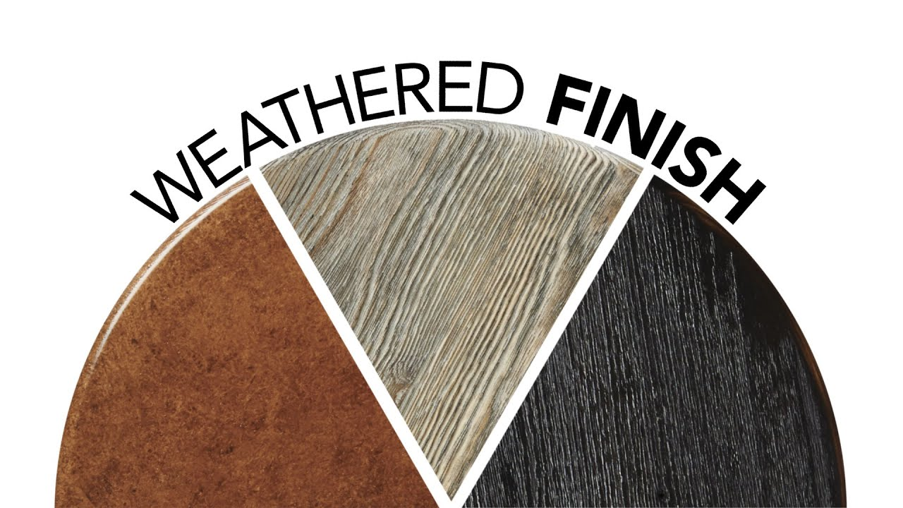 Weathered Wood Finish - YouTube