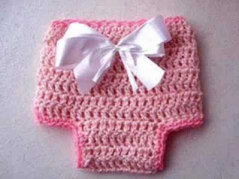 CROCHET A DIAPER COVER newborn to 3 months - YouTube