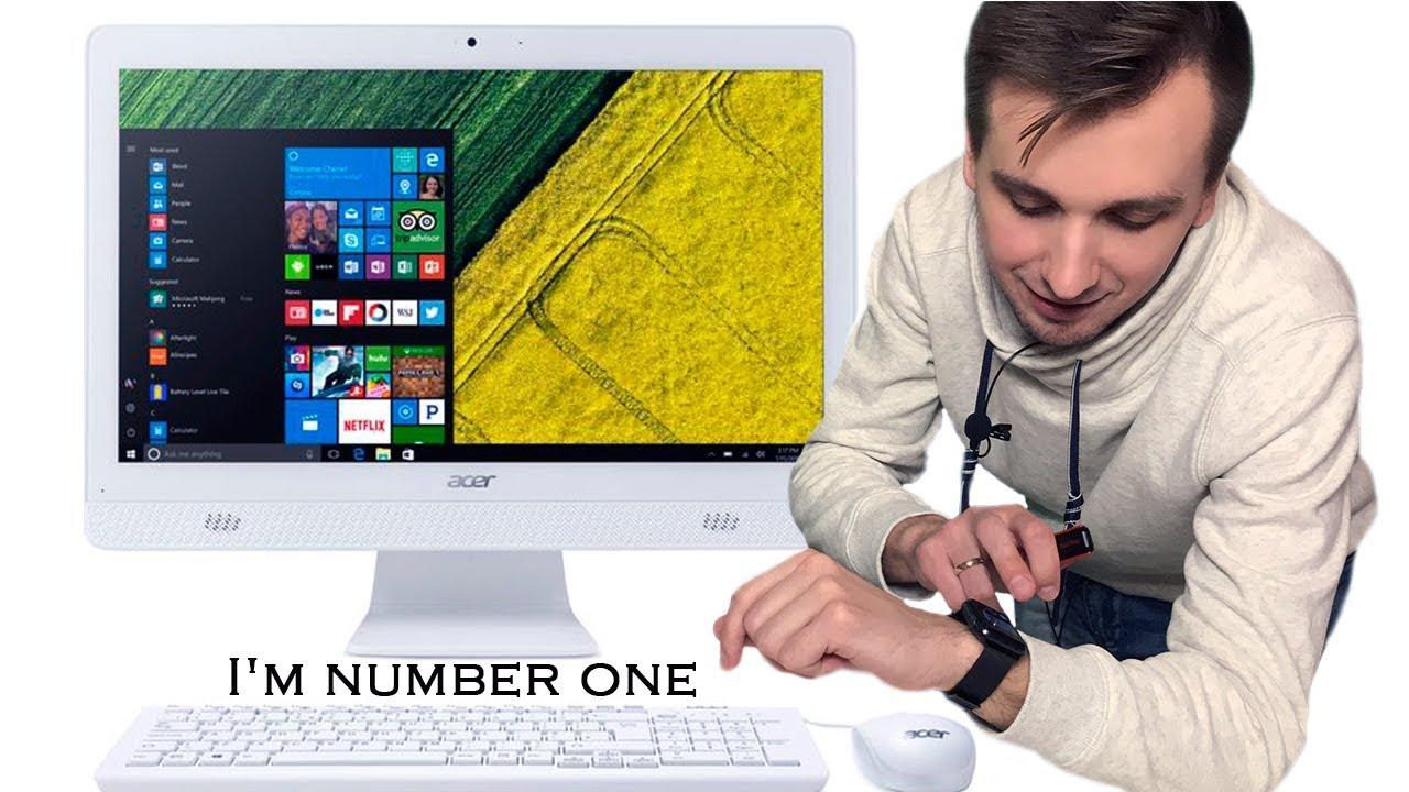 Моноблок Acer Aspire Z3-710 DQ.B05ME - обзор - YouTube