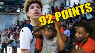 lamelo ball scores 92 points in a game reaction impressed or naw