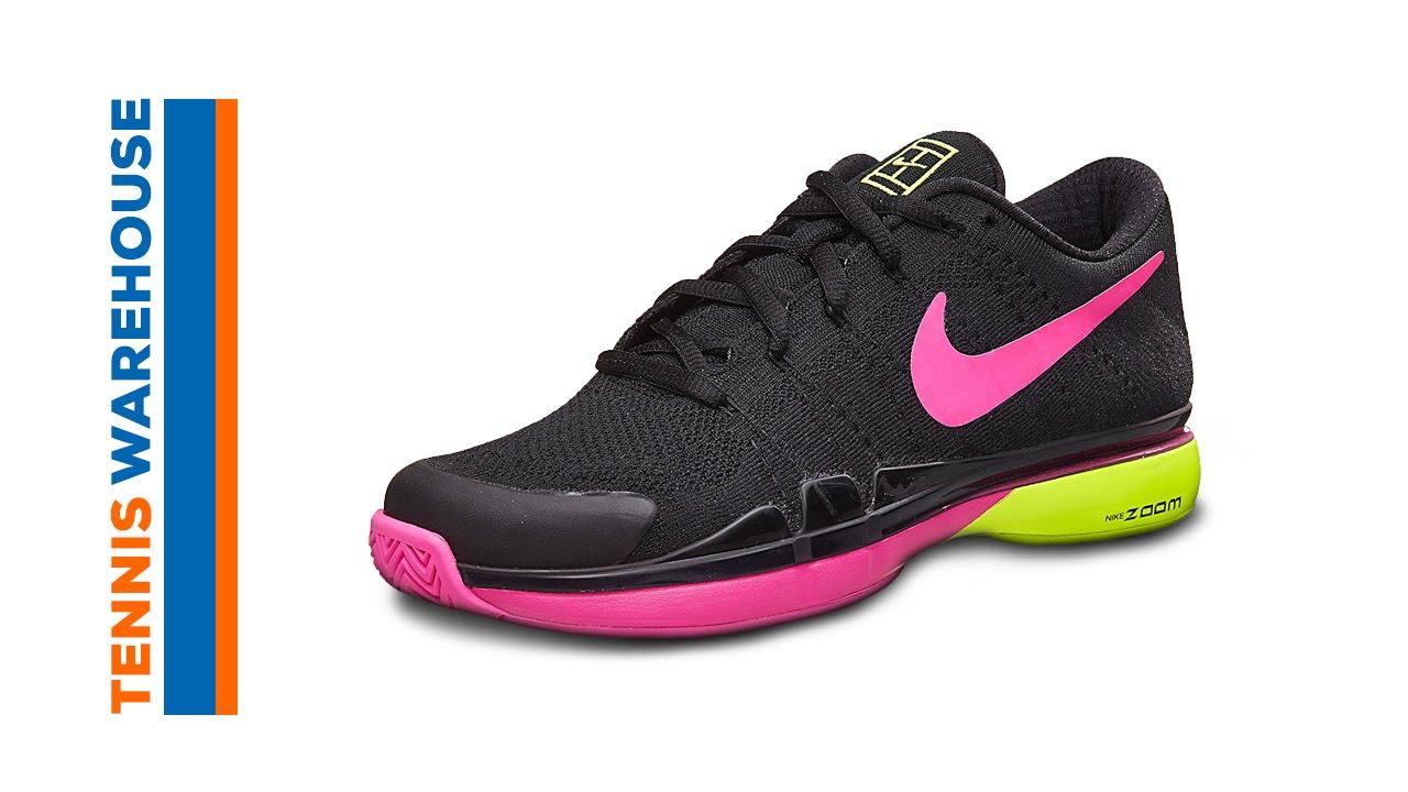 4087cf3e5f926 Nike Zoom Vapor 9.5 Flyknit (Roger Federer) Shoe Review - YouTube