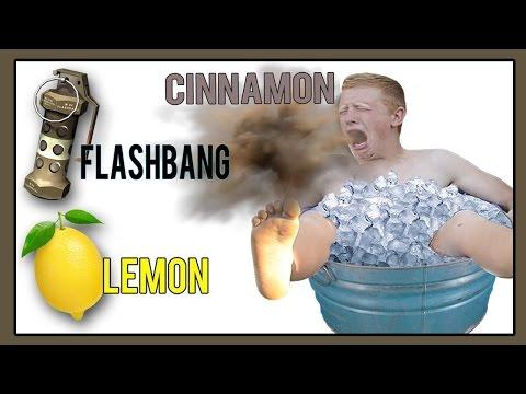 8 Minute ICE BATH, FLASHBANG, LEMON, CINNAMON Challenge!