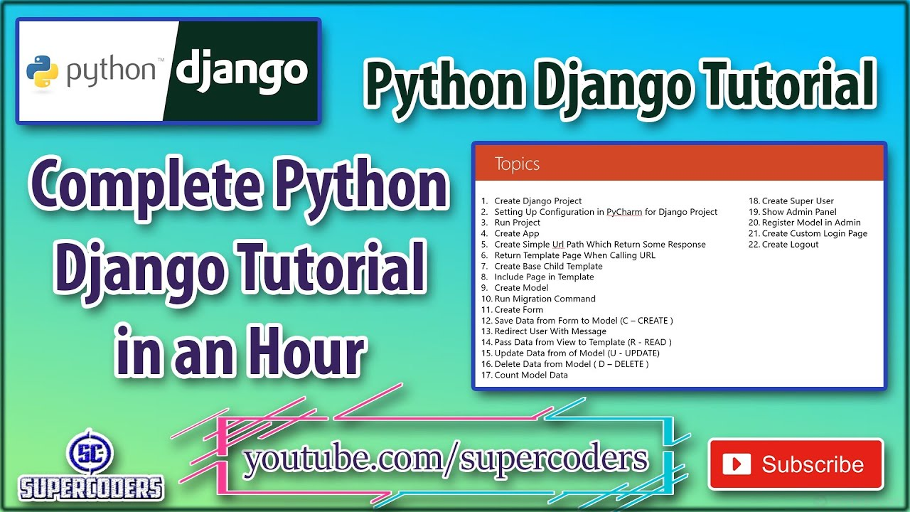 Python Django Complete Cheatsheet Tutorial | All The Basic Examples of Django