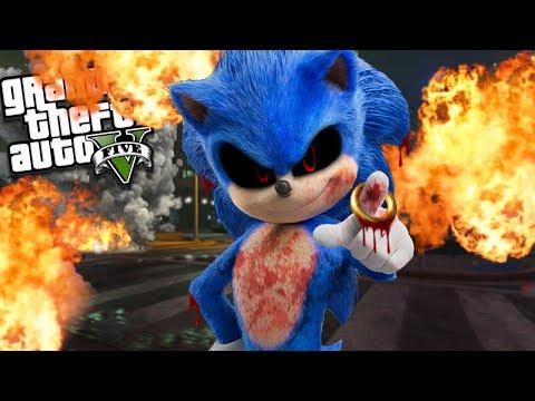 EVIL Sonic.EXE Has RETURNED To LOS SANTOS (GTA 5 Mods)