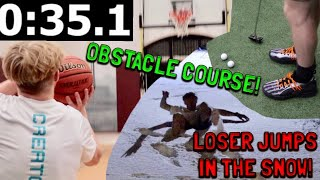 CRAZY Multiple Sport Obstacle Course!