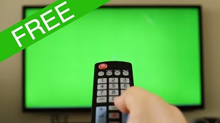 Free clip - remote control with green screen