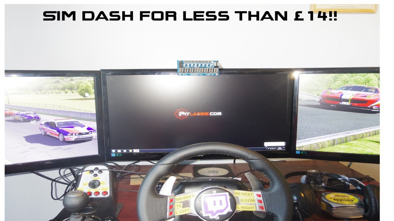 sim racing dash for less than 14 youtube. Black Bedroom Furniture Sets. Home Design Ideas
