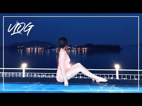 [vlog] ★문을 열면 바다가 보인다 ! 사천 아르떼리조트(arte resort) 풀빌라 겨울 물놀이