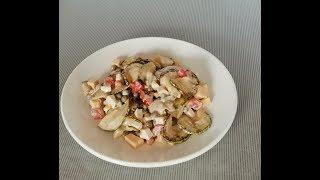 Вкусный салат с кабачком за 15 минут Рецепт салата с жаренным кабачком