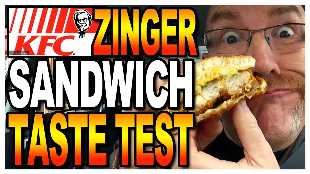 KFC Zinger Sandwich Taste Test & Review