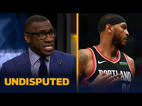 Shannon Sharpe reacts to Carmelo Anthony's debut for the Trail Blazers   NBA   UNDISPUTED