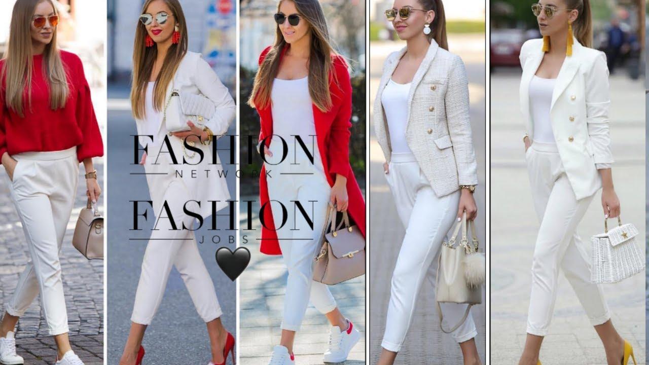 Cómo Combinar Pantalones Blancos Moda Mujer 2020 Outfit Con Pantalón Blanco Youtube