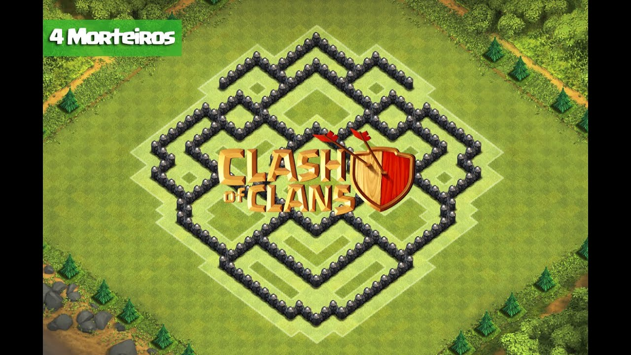 Clash Of Clans - Layout de Defesa para Centro de Vila 8 (Town Hall 8