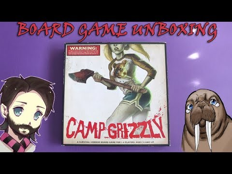 Camp Grizzly Board Game Unboxing Gaming With Walrus