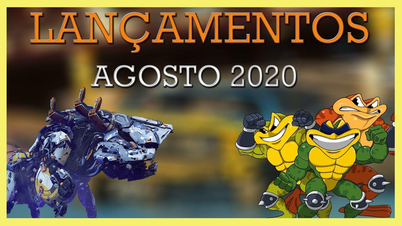 Jogos que serão LANÇADOS em AGOSTO 2020