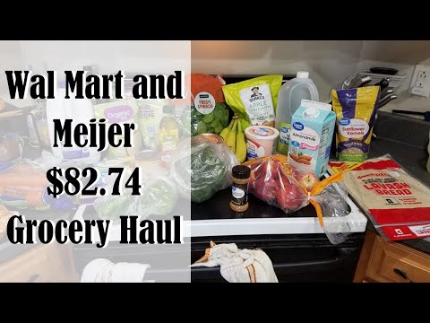 $82.74 Grocery Haul For A Family Of 3 + Meal Plan With Me!