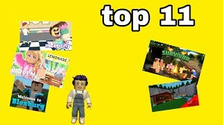 MY ROBLOX FAVOURITE GAMES TOP 11🤔